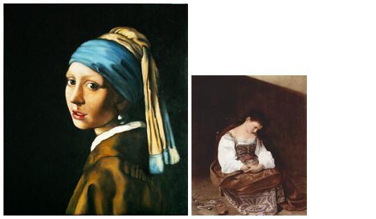 Vermeer, Caravaggio, Maddalnea Penitente, Ragazza con turbante