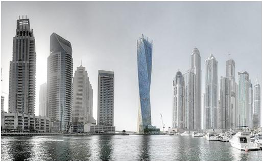 Cayan Tower di Dubai