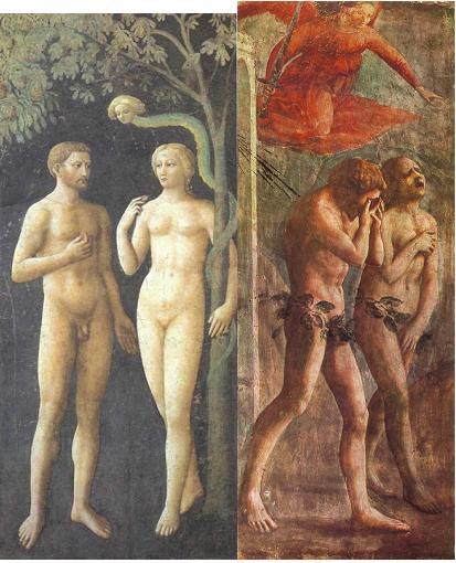 Masaccio, Masolino, Cappella Brancacci, Eva