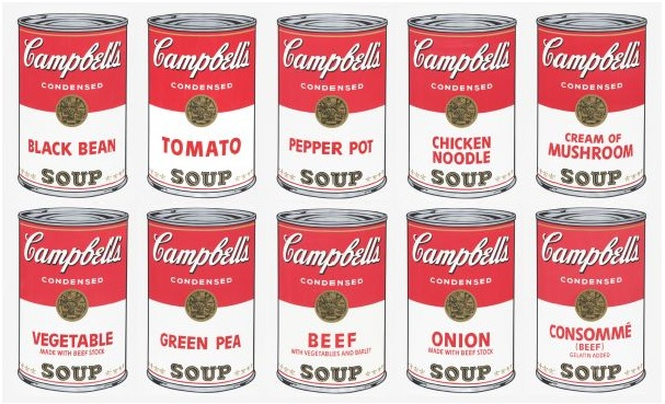 Campbell's soup, Andy Warhol