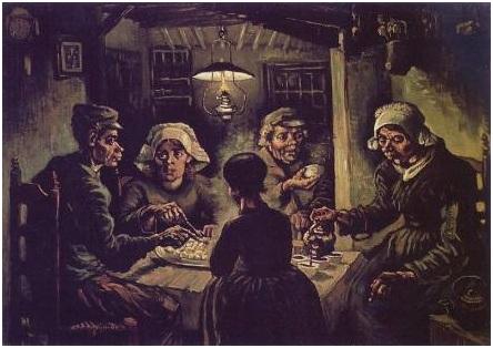 mangiatori, patate, Van Gogh
