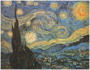 Notte stellata, van Gogh, espressionismo