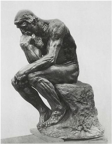 pensatore, rodin, museo, parigi