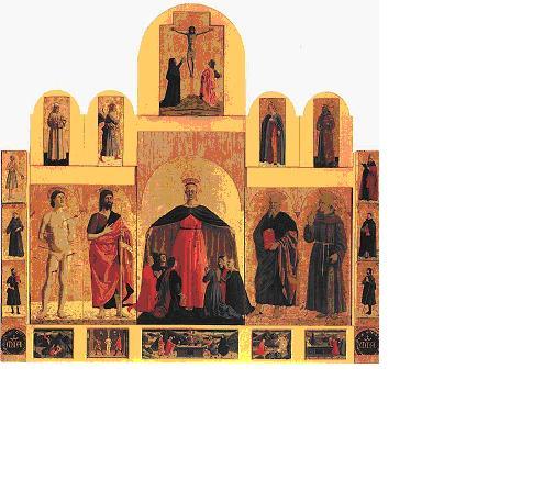 Piero della Francesca, opere, Polittico della Misericrodia