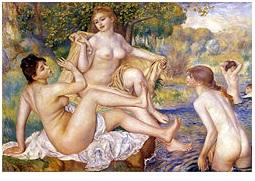 Renoir, nudità femminile, Bagnanti