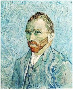 Van Gogh, autoritratto, 1889, manicomio