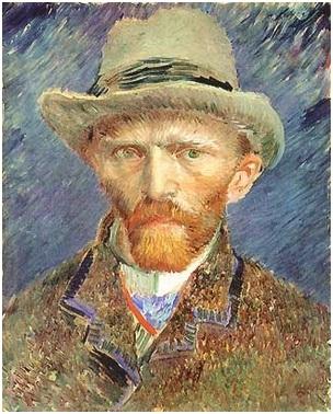 Van Gogh,  autoritratto, cappello, amsterdam